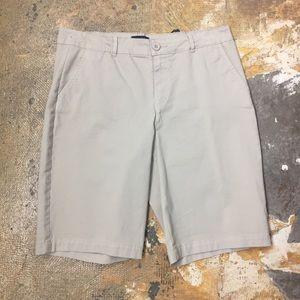 NYDJ Khaki Bermuda Shorts 8 Chino Dressy Long New